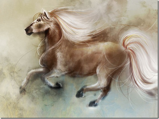 a horse by velisianna thumb 40 Beautiful Digital Painted Horses