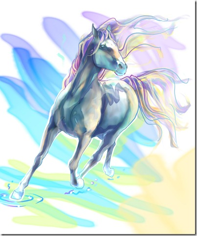 b54cb10846e1a3aded1164ef3d96753b thumb 40 Beautiful Digital Painted Horses