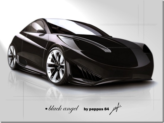 black angel by peppus 84 by peppus84 thumb 50 Great Examples of Car Tuning In PhotoShop
