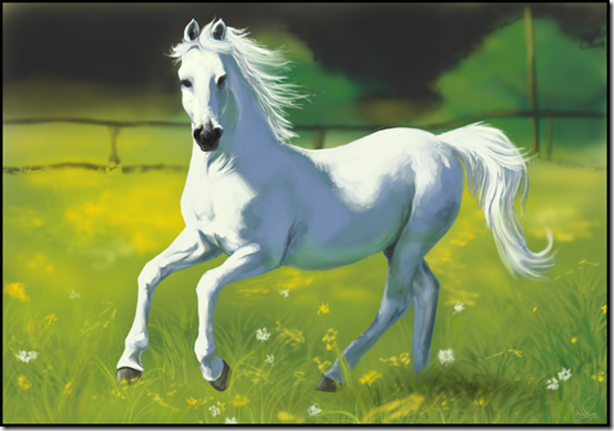 horse painting by atsaki thumb 40 Beautiful Digital Painted Horses