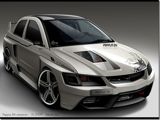lancer peppus84 by peppus84 thumb 50 Great Examples of Car Tuning In PhotoShop