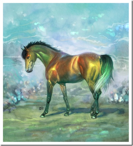 rainbow horse by Zau R thumb 40 Beautiful Digital Painted Horses