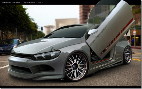 vw scirocco peppus84 by peppus84 thumb 50 Great Examples of Car Tuning In PhotoShop