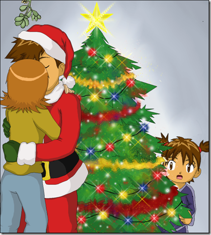 I Saw Mommy Kiss Santa Claus by CherryGirlUK thumb 30 Inspiring Santa Clauses That Are Not Real