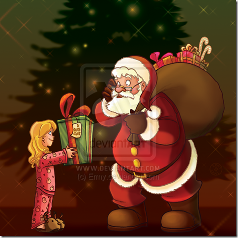 Merry Christmas Santa Claus by Ermy thumb 30 Inspiring Santa Clauses That Are Not Real
