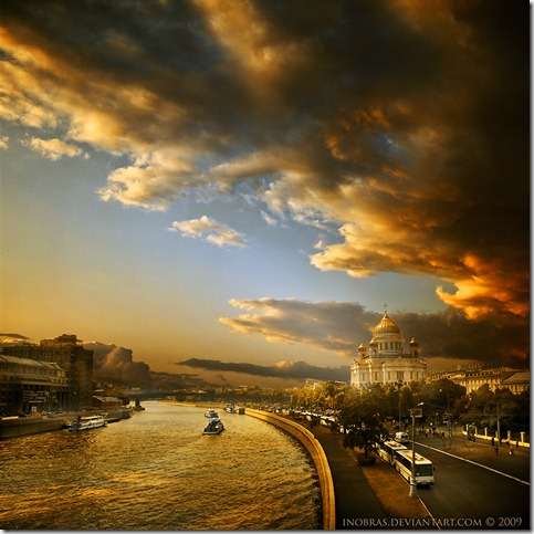 Moscow River near Cathedral by inObrAS thumb 30 Rivers That Will Make You Love Them