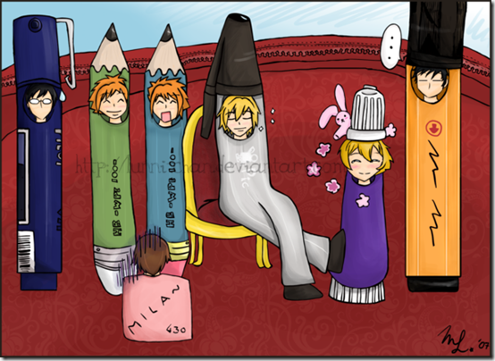 Ouran  Pencil Case  Host Club  by Lunni chan thumb 30 Beautiful Pencils and Pencil Creations