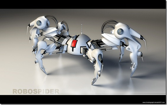 RoboSpider V2 Test2 by AnubisGraph thumb1 Very Inspiring 3d Robot Illustrations