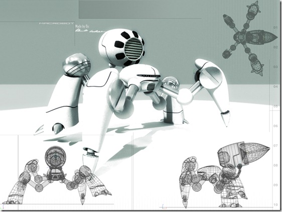 Robot by Wushumufu thumb1 Very Inspiring 3d Robot Illustrations