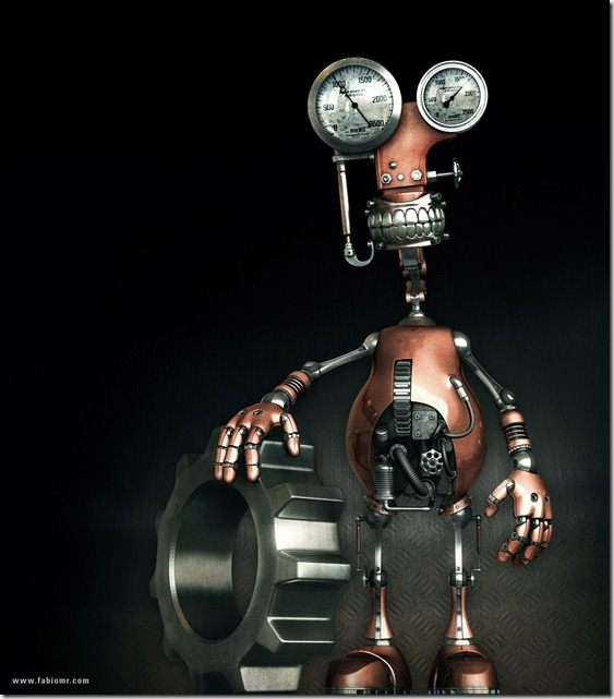 Robot by fabioragonha thumb1 Very Inspiring 3d Robot Illustrations
