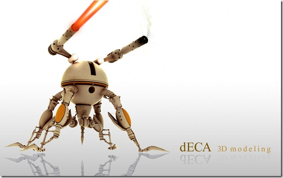 Robot deca3Dmodeling by deca18 thumb1 Very Inspiring 3d Robot Illustrations
