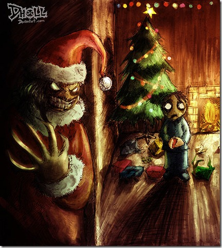 Santa Claws by dholl thumb 30 Inspiring Santa Clauses That Are Not Real