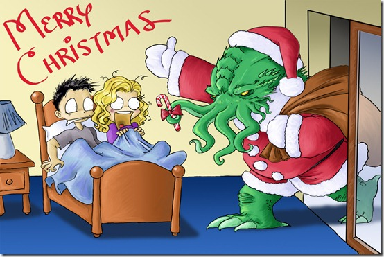 Santa Cthulhu Comes to Town by DrChrissy thumb 30 Inspiring Santa Clauses That Are Not Real