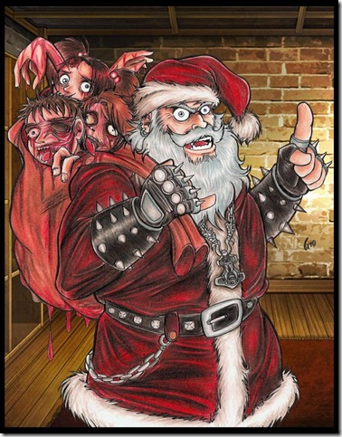 Satan Claus is Coming To Town by Giosuke thumb 30 Inspiring Santa Clauses That Are Not Real
