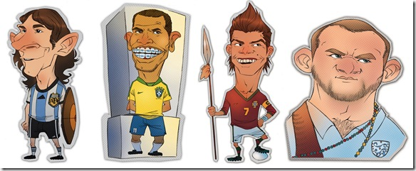 World Cup Heroes by eduardovieira thumb World Cup 2010 Best Wallpapers And Inspirations