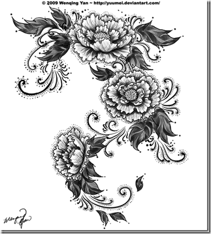 lace-peonies-tattoo-commission-by-yuumei-thumb