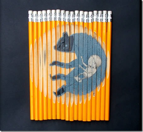 pencilart10 thumb 30 Beautiful Pencils and Pencil Creations