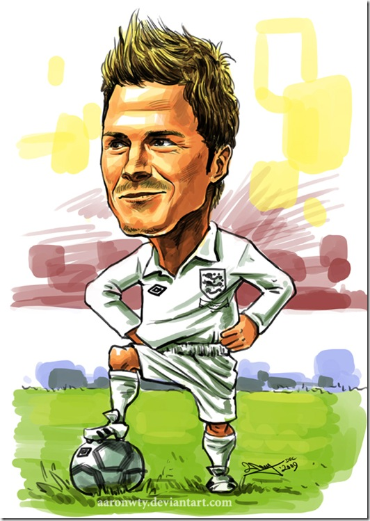 Beckham caricature by aaronwty thumb Celebrity Caricature Inspirations