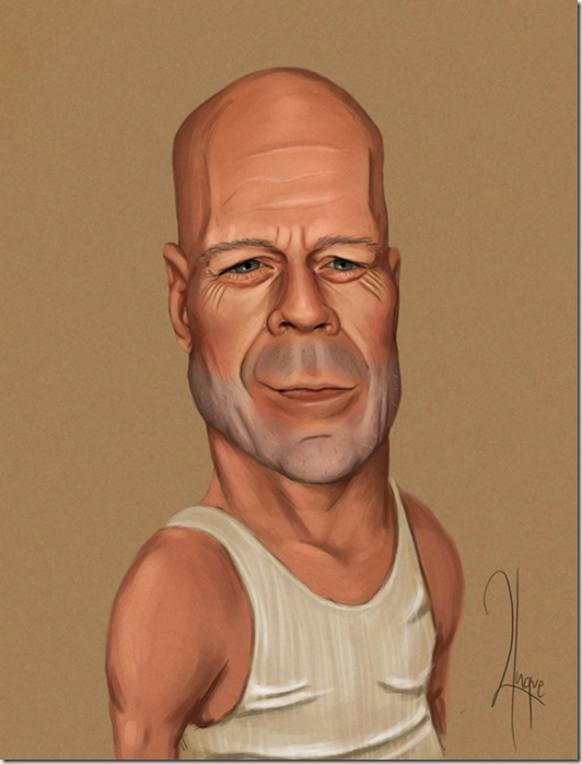 Bruce Willis Charicature by YngveMartinussen thumb Celebrity Caricature Inspirations