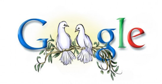 Doodle 4 Google    Peace by Demiie 550x286 30 Beautiful Google Doodles