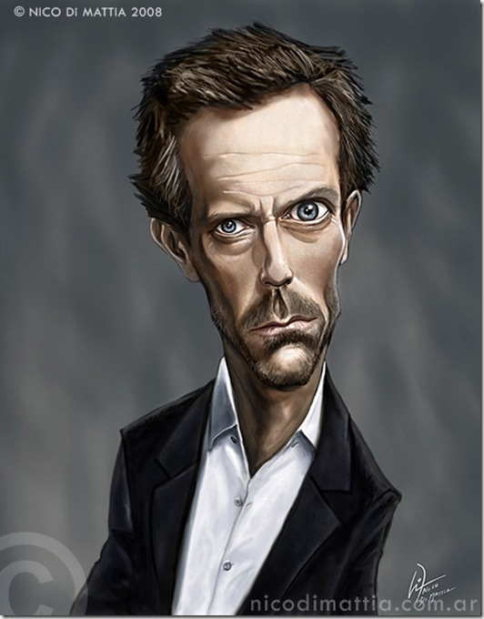 Dr HOUSE caricature by macpulenta thumb Celebrity Caricature Inspirations