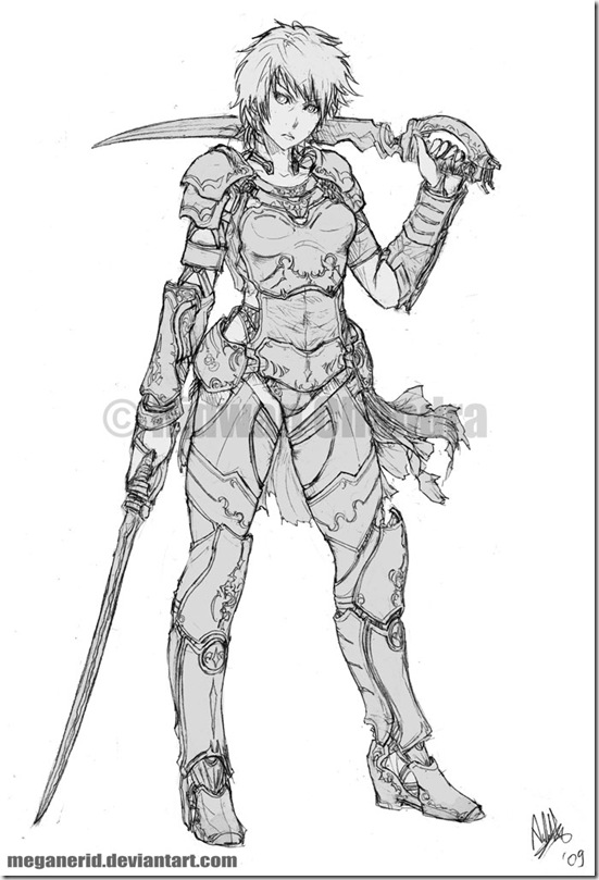 Female Warrior Ayana by MeganeRid thumb Very Creative Warrior Drawing And Art Works