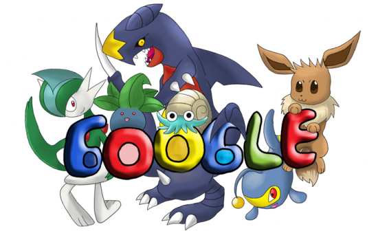 GOOGLE O POKEMON by AbusoRugia 550x339 30 Beautiful Google Doodles