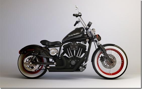 Harley_Davidson_883_Custom_by_inarishrine
