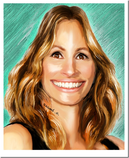 Julia Roberts caricature by shlomit thumb Celebrity Caricature Inspirations
