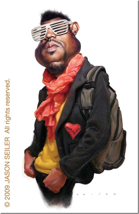 Kanye West by jasonseiler thumb Celebrity Caricature Inspirations