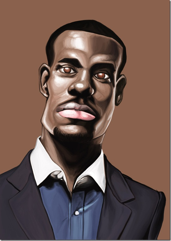 LeBron Caricature by R3MYx thumb Celebrity Caricature Inspirations