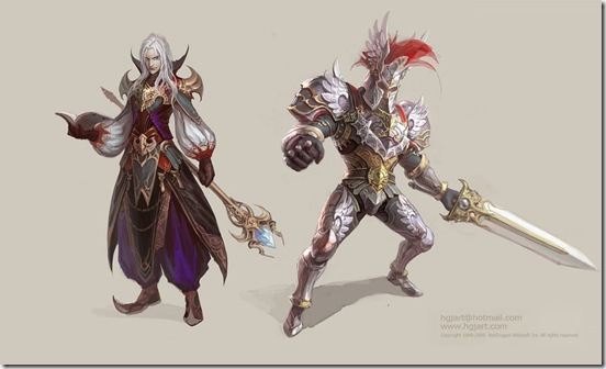 Mage_and_Warrior_by_hgjart