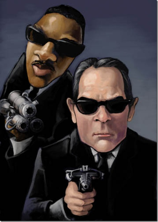 Men in Black by thegryph thumb Celebrity Caricature Inspirations