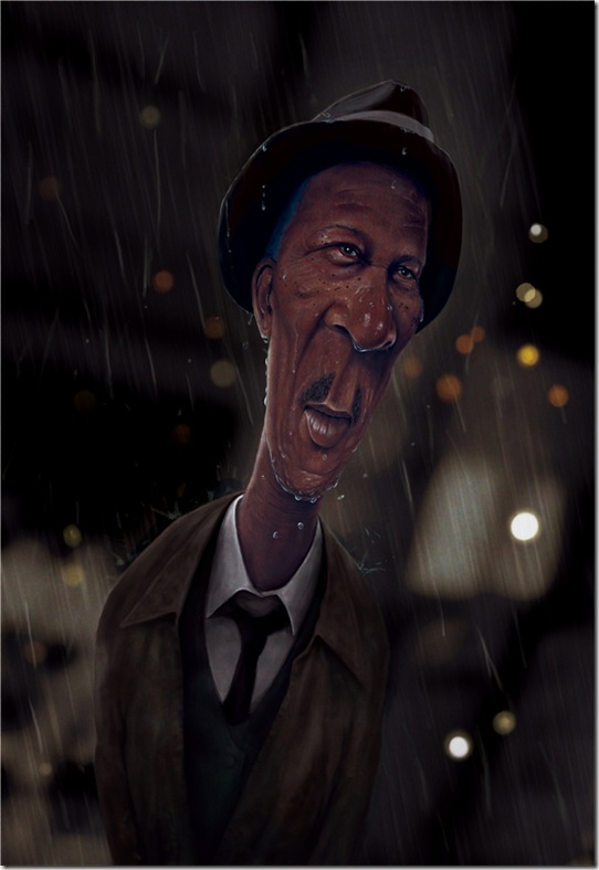 Morgan Freeman Caricature by haydentarr thumb Celebrity Caricature Inspirations