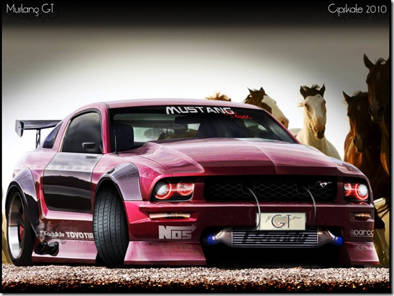 Mustang GT by CipSkate thumb Most Beautiful Examples Of Clear 3 Dimensional Art