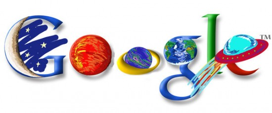 NASA google logo by speedychipmunk13 550x229 30 Beautiful Google Doodles