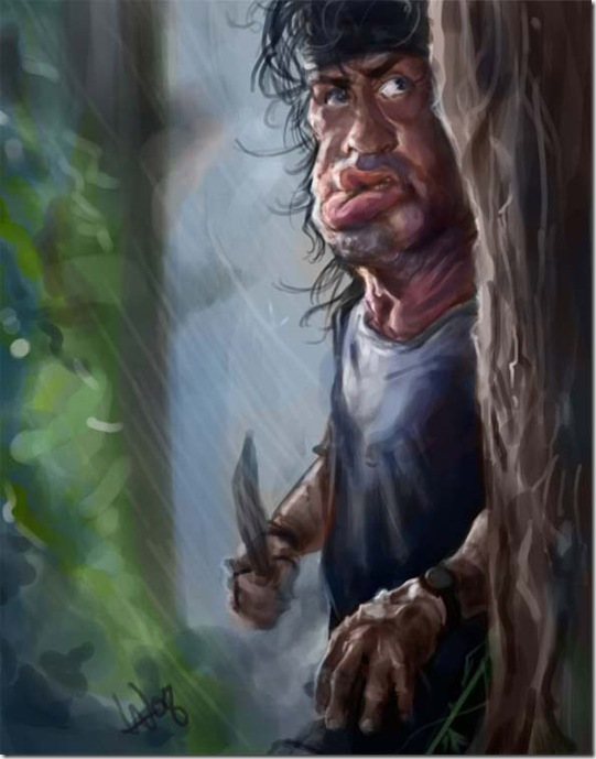 Rambo by bangalore monkey thumb Celebrity Caricature Inspirations