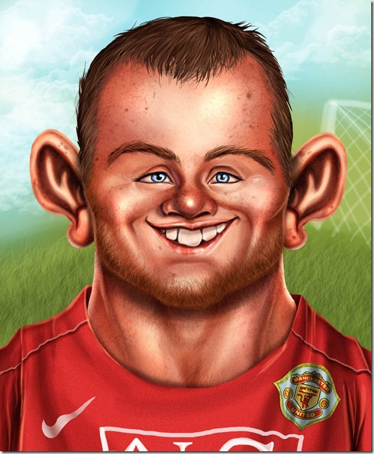 Rooney Caricature by Kromespawn thumb Celebrity Caricature Inspirations