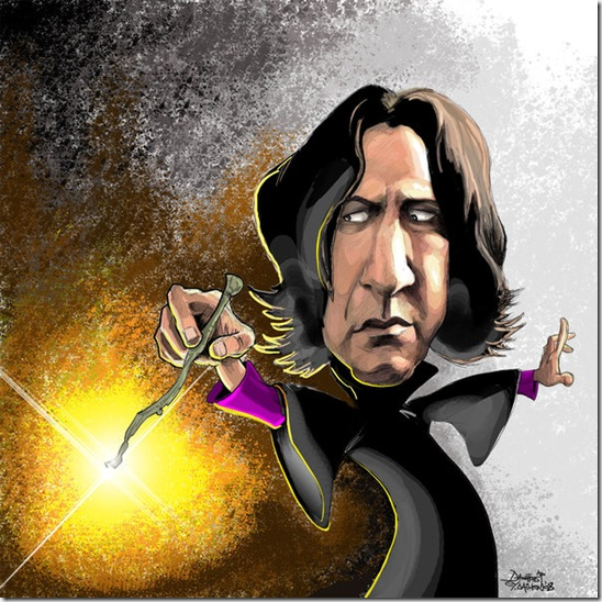 Severus Snape caricature by efdemon thumb Celebrity Caricature Inspirations