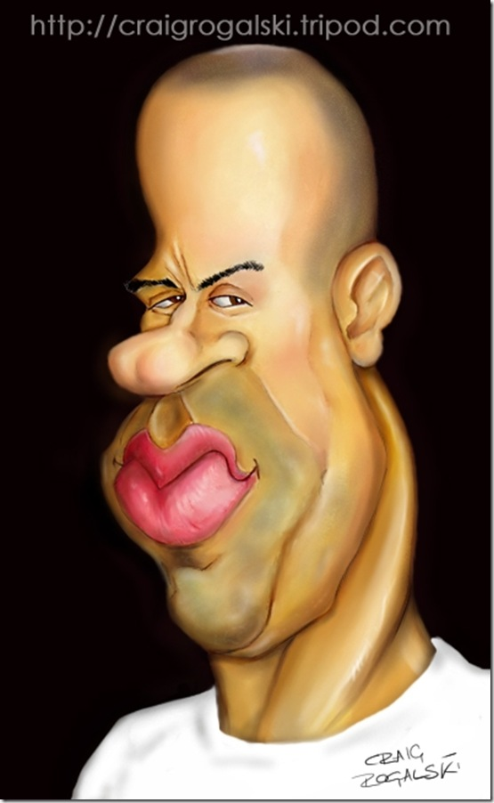 Vin Diesel Caricature by Rogs73 thumb Celebrity Caricature Inspirations