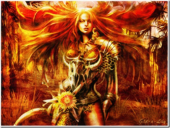 Warrior Queen by Gild a Lily thumb Very Creative Warrior Drawing And Art Works