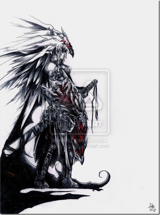 chaos  s warrior by hyatt92 thumb Very Creative Warrior Drawing And Art Works