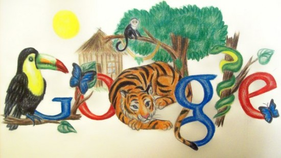 doodle for google by Bluerose1324 550x311 30 Beautiful Google Doodles