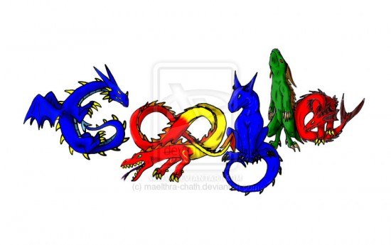 google Logo  Dragons colored by maelthra chath 550x345 30 Beautiful Google Doodles