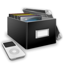 Box, Media, Music icon