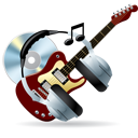 Cd, Disc, Guitar, Headphones, Instrument, Music icon