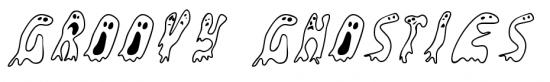 Groovy Ghosties Font