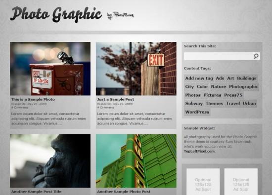 Photo Graphic wp premium template