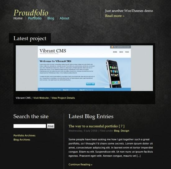 Proudfolio premium portofolio wp theme