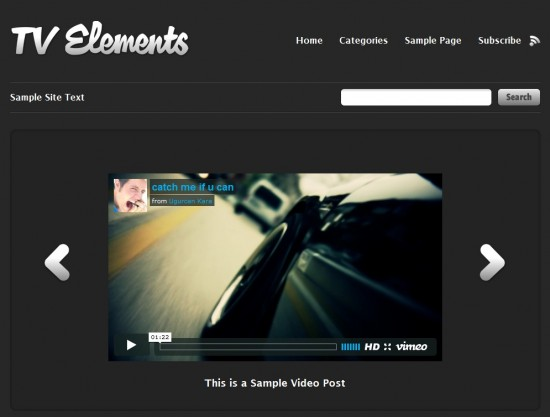 Tv Elements 550x417 7 Outstanding Wordpress Video Templates